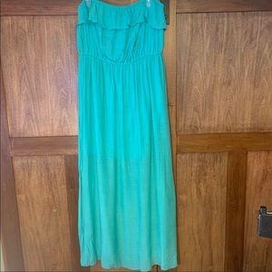 🌼 3 for $35 Teal Strapless Beach Dress
